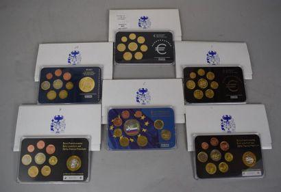 Lot comprenant des pièces en euros de Slovaquie...