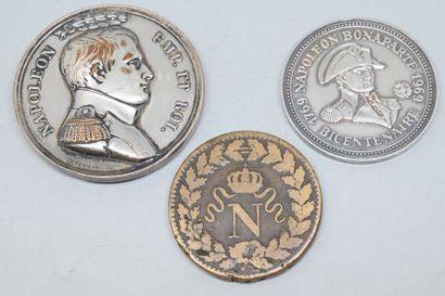 Lot de pièces et médailles à l'effigie de...