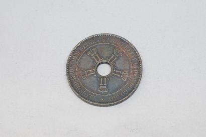 Pièce en cuivre de 10 centimes - Léopold...