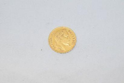 1 pièce en or de 20 Francs, Napoléon III...