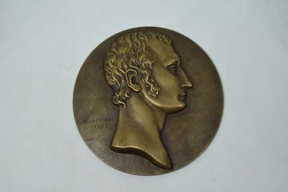 Médaille à double face bronze commémorant...