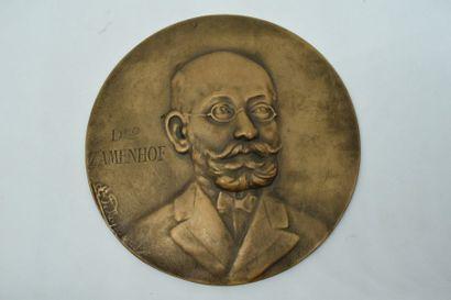 Médaille bronze à l'effigie du Docteur Zamenhof....