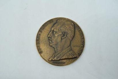 Médaille en brone à double face par Louis...