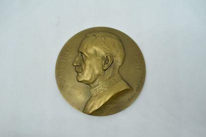 Médaille en cuivre du Maréchal Foch, par...
