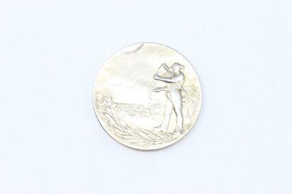 Médaille en argent.  Avers : un paysan sur...