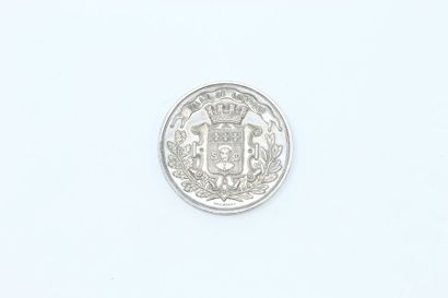 Médaille en argent.  Avers : ville de Limoges...