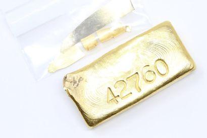 Lingotin d'or (998.5) numéroté.  Avec certificat....