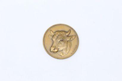 Arthus Bertrand  Médaille en bronze à patine...