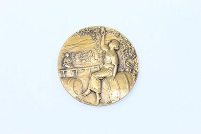 Emile MONIER (1883-1970).  Médaille en bronze...