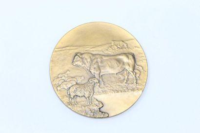 C. Kristesco  Médaille en bronze à patine...