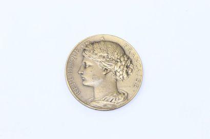 Arthus Bertrand  Médaille uniface en bronze...