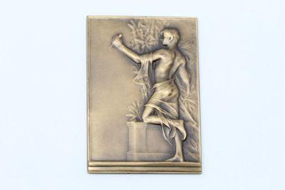 Kautsch Heinrich    Plaque en bronze représentant...