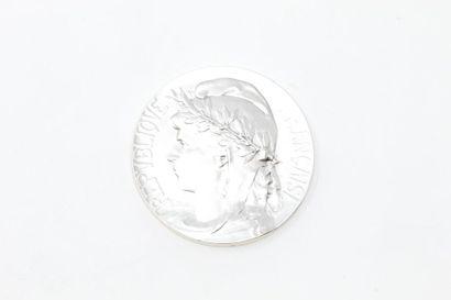 MATTEI Louis  Médaille uniface en bronze...