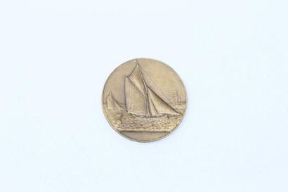 Arthus Bertrand  Médaille en bronze à décor...