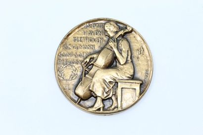 Bouchard  Médaille en bronze uniface représentant...