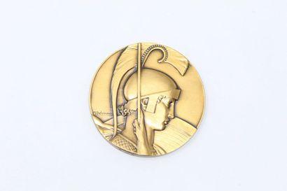 M.Delannoy  Médaille en bronze doré représentant...