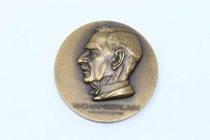 Louis MULLER  Médaille en bronze à double...