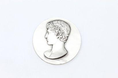 M.Delannoy  Médaille en argent représentant...
