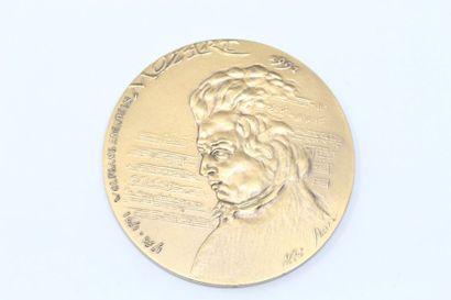Norbert Iborra  Médaille en bronze à patine...