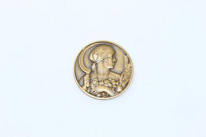 M.Delannoy  Médaille uniface en bronze à...