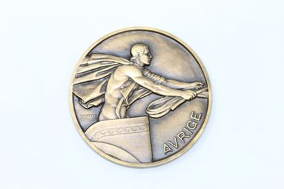 Georges Guiraud  Médaille uniface en bronze...