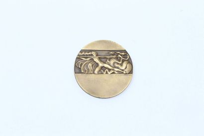 M. DAMMANN.  Médaille en bronze à patinre...