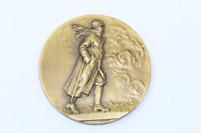 François Cogné  Médaille en bronze à patine...