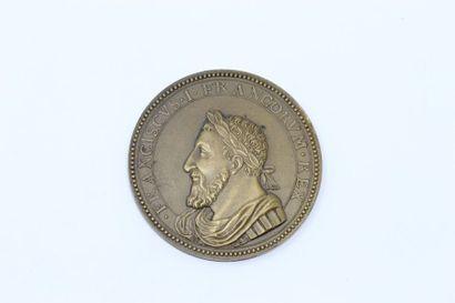 Médaille en bronze commémorant Francois 1er...
