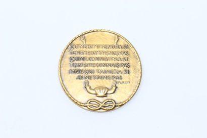 P.Valery  Médaille en bronze gravé d'inscriptions...