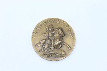 A.BARTHOLDI  Médaille en bronze gravé de...