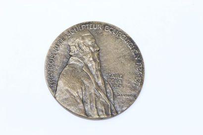 Henri BOUCHARD  Médaille en bronze doré à...