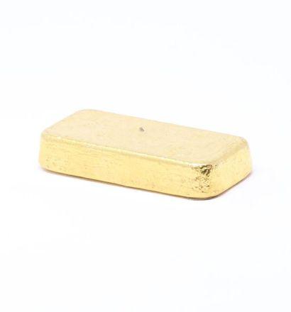 Lingot d'or (995) numéroté.  Avec certificat....