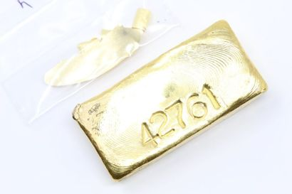 Lingotin d'or (998) numéroté.  Avec certificat....