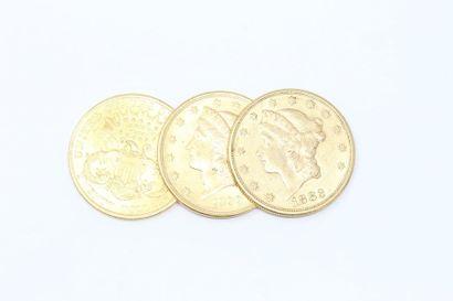 Lot de 3 pièces en or
