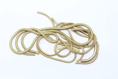 Débris d'or jaune 18k (750) comprenant des...