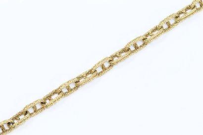 Bracelet souple en or jaune 18K (750), à...