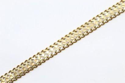 Bracelet en or jaune 18k (750) à maille fantaisie....
