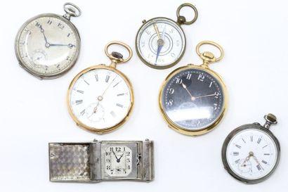 Lot de montres comprenant :  - 1 montre de...