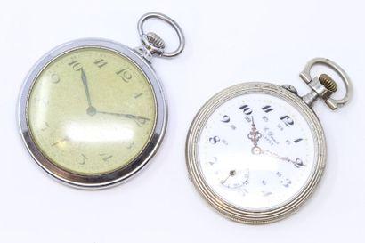 Ensemble de deux montres de gousset, l'une...
