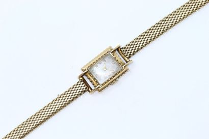 Montre bracelet de dame en or jaune 18k (750),...
