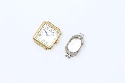 Lot comprenant :  - un boîtier de montre...