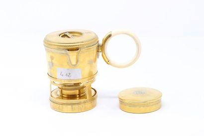 Keller Paris  Nécessaire à café en métal...