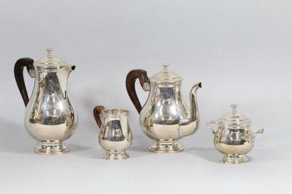 CHRISTOFLE  Service thé/café de quatre pièces...