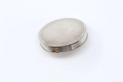Pilulier rond en argent (Minerve) les deux...