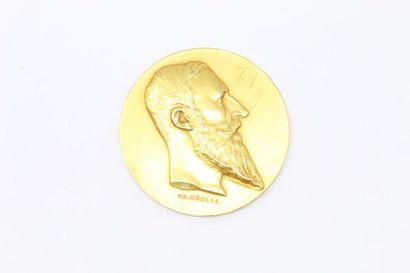Médaille en or jaune 18k (750)