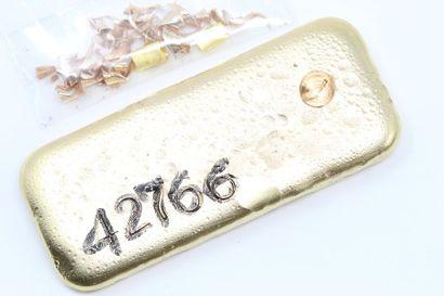 Lingotin d'or jaune (758) numéroté.  Avec...