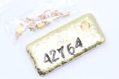 Lingotin d'or (745) numéroté.  Avec certificat....