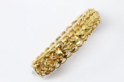 Bracelet articulé en or jaune 18k (750) à...