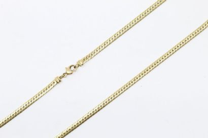 Collier en or jaune 18k (750) à maille anglaise....
