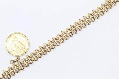 Bracelet en or jaune 18k (750), une pièce...